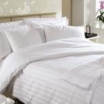 ผ้าปูที่นอน รัดมุม12นิ้ว ผ้าCotton100% 250เส้นด้าย ริ้วขาว 3.5ฟุต 1ชิ้น ผืนละ 530 บาท ส่ง 20ผืน