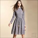 59020122 / S M L XL / 2016 Lace dress พรีออเดอร์ งานคัตติ้งยุโรป คุณภาพดีสมราคา สวยคอนเฟริ์ม
