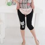 กางเกงเล็คกิ้ง L0184 สีดำ