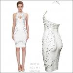 HV0910 / Preorder Herve Leger Dress Style พรีออเดอร์เดรสไตล์ Hervr Leger เดรสผ้ายืด ใส่สวยเน้นรูปร่าง แบบเก๋ทันสมัย สไตล์ดาราและเซเลบกำลัง HOT HIT