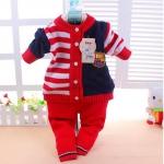 เสื้อ+กางเกง สีแดง แพ็ค3ชุด ไซส์ M.L.XL