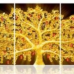ArtHome223 ภาพต้นโพธิ์เหรียญทอง ขนาด 40*60 ซม. 3ภาพ