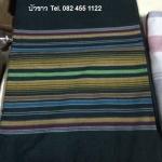 ผ้าถุง ผ้าซิ่น ลายริ้ว ผ้าฝ้าย (พับคู่) คละสี 90*180ซม ผืนละ 80 บาท ส่ง 100ผืน