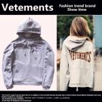 Hoodie VETEMENTS 16ss GRAY -ระบุไซต์-