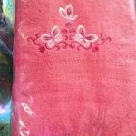 ผ้าขนหนู Cotton100% ผ้าเช็ดตัว ปักเข้ม 7ปอนด์ คละสี 24*48นิ้ว โหลละ 990บาท ส่ง 10โหล