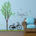 สติกเกอร์จักรยาน ต้นไม้2แผ่น a235