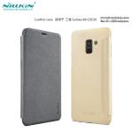 Samsung A8 Plus 2018 - เคสฝาพับ Nillkin Sparkle leather case แท้