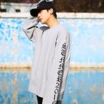 เสื้อแขนยาว Vetements Gray Ss.2016 -ระบุไซต์-