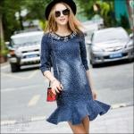 J5809245 / M L XL 2XL / 2015 Denim Fashion Style พรีออเดอร์ งานคัตติ้งยุโรป คุณภาพดีสมราคา สวยคอนเฟริ์ม