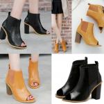 รองเท้าส้นสูงแบบเท่ๆสีดำ/น้ำตาล ไซต์ 35-40