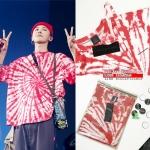 (งานป้าย) เสื้อยืด PEACEMINUSONE PMO TIE-DYE #3 (RED) Sty.GD -ระบุไซต์-