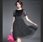 M5805150 / S M L / 2015 Hiend Design Fashion dress พรีออเดอร์เดรสแฟชั่นงานเกรดยุโรป สวยดูดีมีสไตล์ นางแบบใส่ชุดจริง เป๊ะเว่อร์!