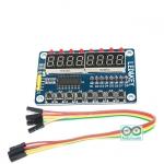 8-Digit 7 Segment Display with 8 LED and 8 Push Switches TM1638 BOARD บอร์ดแสดงผลตัวเลข 8 หลักพร้อม LED และปุ่มกด