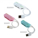 USB HUB B309-GR/PI/WH