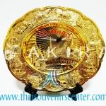 ของพรีเมี่ยม ของที่ระลึกไทย จานโชว์ แบบที่ 12 Size M สีทองล้วน
