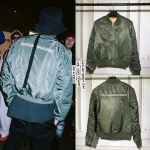 JACKET bomber PEACEMINUSONE GREEN Sty.GD -ระบุไซตื-