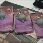 iPhone 7 - เคส TPU หลังนุ่มนิ่ม 3D ลายแมวเทา นอนบนเตียง