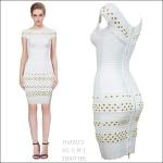 HV0923 / Preorder Herve Leger Dress Style พรีออเดอร์เดรสไตล์ Hervr Leger เดรสผ้ายืด ใส่สวยเน้นรูปร่าง แบบเก๋ทันสมัย สไตล์ดาราและเซเลบกำลัง HOT HIT