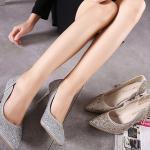 รองเท้าส้นสูง ไซต์ 34-40 สีเงิน สีทอง