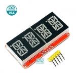 Arduino 0.54 inch 4-bit 14-Segment Alpha-numeric LED I2C driver HT16K33 จอ LED 4 หลัก 0.54 นิ้ว ไดรเวอร์ HT16K33