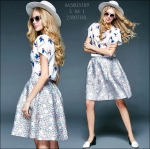 M5805189 / S M L / 2015 Hiend Design Fashion dress พรีออเดอร์เดรสแฟชั่นงานเกรดยุโรป สวยดูดีมีสไตล์ นางแบบใส่ชุดจริง เป๊ะเว่อร์!