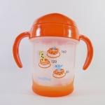 แก้วหัดดื่ม Pigeon Mag Mag Step3 รุ่นใหม่ สีส้ม (Made in Japan)