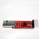 โมดูล USB to TTL UART (CP2102) with DTR/CTS pinout พร้อมสายไฟ