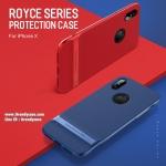 iPhone X - ROCK Royce Series case เคสกันกระแทก ดีไซน์เท่ห์ๆ แท้