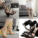 รองเท้าส้นสูงสีเหลือง/ดำ ไซต์ 35-40