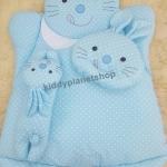 ที่นอนเด็กอ่อน กระต่ายลายจุด สีฟ้า