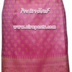 ผ้าถุงป้ายข้าง-สั้น สีชมพูเข้ม (เอวใส่ได้ถึง 34 นิ้ว) รายละเอียดสินค้าในหน้าฯ