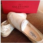 Valentino Lace flat shoes เป๊ะที่สุด สีครีม size 37 พร้อมส่งทันที