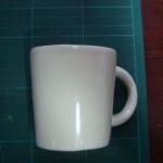 ของชำร่วยแก้วมัคสีขาวทรงกระบอก