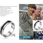 แหวนสีเงินดำแบบ EXO Baekhyun Sehun