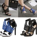 รองเท้าส้นสูงสีน้ำเงิน/ดำ ไซต์ 35-40
