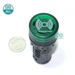 Buzzer LED Alert 5-12V เสียงและแสงสัญญาณเตือนภัย ออดไฟฟ้า ไฟสีเขียว 5-12V