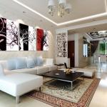 ภาพงานศิลป์ ต้นไม้สลับสี ได้ 3ภาพ Art-Da