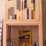 ตู้ไม้สวยๆ-ตู้โชว์ห้องรับแขกทรงสูง