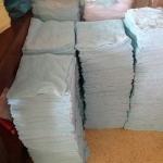 ผ้าขนหนู Cotton100% ผ้าเช็ดหน้า สีหวาน 0.9ปอนด์ คละสี 12*12นิ้ว โหลละ 145 บาท ส่ง 50โหล