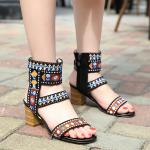 รองเท้าส้นสูงผ้าปักงานละเอียดสวยมาก ไซต์ 35-40