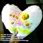 017 มิกซ์รูปสกรีนหมอนอิงหัวใจ