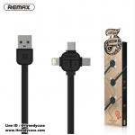 สายชาร์จ Remax 3in1 Cerpex RC-066th 100cm (Type-C / Android / iPhone) แท้