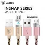 สายชาร์จหัวแม่เหล็ก Baseus Insnap Magnetic cable 100cm (Android / Micro USB) แท้