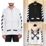 (งานป้าย) Jacket OFF-WHITE Brushed Arrow Back Print full-Zip-ระบุสี/ไซต์-