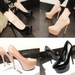 รองเท้าส้นสูงคัดชูสีนู๊ด/ดำ ไซต์ 34-38
