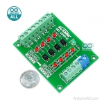 3.3V TO 24V 4 CHANNEL OPTOCOUPLER ISOLATION BOARD 4BIT