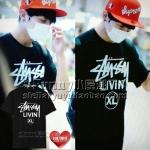 เสื้อยืด STUSSY LIVIN XL Sty.JUNGKOOK BTS-ระบุสี/ไซต์-