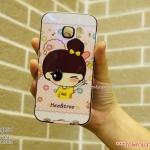 Samsung Galaxy S6 Edge - เคส Face Idea ลายหญิงเสื้อเป็ดเหลือง