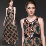 MM5706136 / S M L XL / 2014 Fashion dress พรีออเดอร์เดรสแฟชั่นงานเกรดยุโรป สวยดูดีมีสไตล์ นางแบบใส่ชุดจริง เป๊ะเว่อร์!