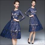 59020123 / S M L / 2016 Lace dress พรีออเดอร์ งานคัตติ้งยุโรป คุณภาพดีสมราคา สวยคอนเฟริ์ม